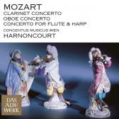 Clarinet Concerto, Oboe Concerto & Concerto for Flute & Harp